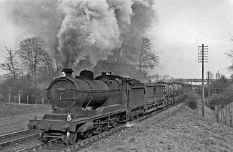 ROD 2-8-0 - Great Western Railway 3043 at Seer Green 1950