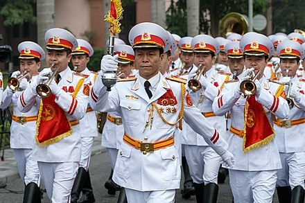 Band for the Military Honour Guard Battalion of the Vietnam People's Army. Sergei Shoigu in Vietnam 05.jpg