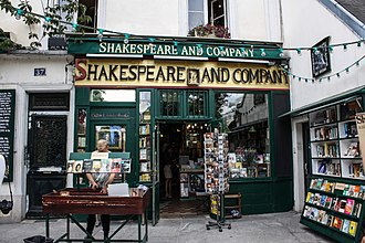 """Shakespeare and Company (bookstore) - """"Shakespeare and Company"""" store, Paris, 2013"""