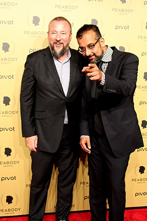 Suroosh Alvi - Image: Shane Smith and Suroosh Alvi at the 74th Annual Peabody Awards