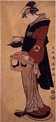 Matsumoto Yonesaburō I as the maid Otsuyu