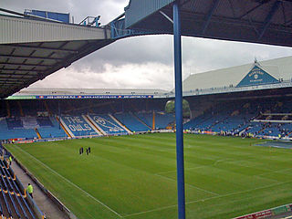 A view of Sheffield Wednesday F.C's Hillsborough Stadium