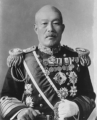 Shimamura Hayao - Portrait of Admiral Shimamura Hayao from National Diet Library, Tokyo