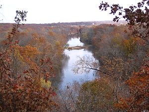Shoal Creek (Spring River tributary) - Shoal Creek from Inspiration Point, near Joplin, Missouri