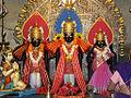 Shriram,Laxman,Sita at Shriram Mandir Phaltan.jpg