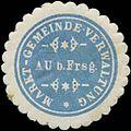 Siegelmarke Markt-Gemeinde-Verwaltung Au bei Frsg. W0382757.jpg