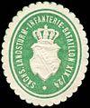 Siegelmarke Sächs. Landsturm-Infanterie-Bataillon XIV-42 W0295718.jpg