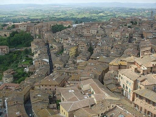 Panorama del Terzo di Città dalla Torre del Mangia