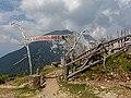 Sign at mountain hut Roblekov Dom, Karawanks, Slovenia.jpg