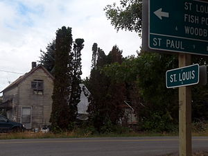 Saint Louis, Oregon - Entering St. Louis, Oregon.