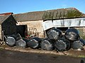 Silage bales at Lower Narracott - geograph.org.uk - 283137.jpg