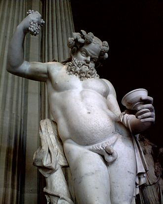 Silenus - Drunken Silenus. Parian marble, Roman artwork of the 2nd century AD, Louvre.