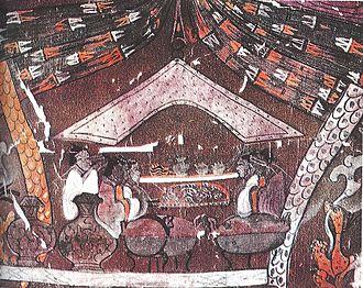 Miao people - A Western Han painting on silk near Changsha in Hunan province.