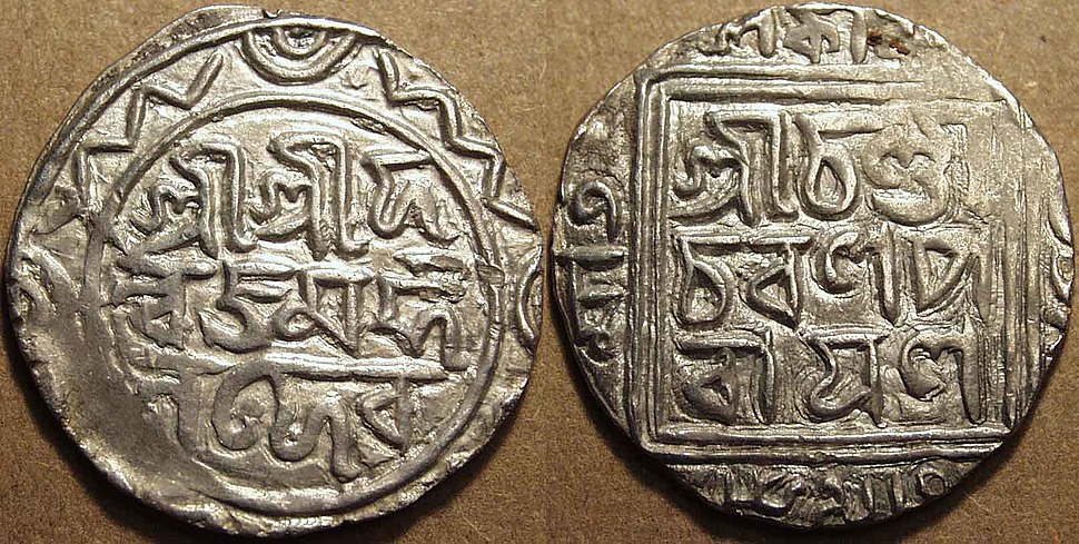 Silver coin of Danujamarddana