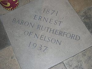 Ernest Rutherford - Lord Rutherford's grave in Westminster Abbey