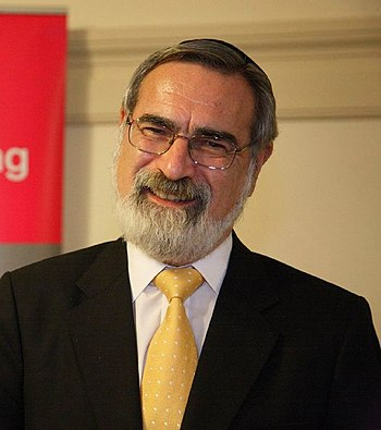 English: Sir Jonathan Sacks, Chief Rabbi of th...