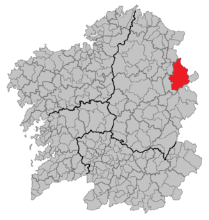 A Fonsagrada - Location of A Fonsagrada in Galicia