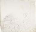 Sketch of Triumphal Arch (recto); Alternate Study for Triumphal Arch (verso) MET DP808077.jpg