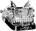Skrifmaskin, Oliver-maskin, Nordisk familjebok.png