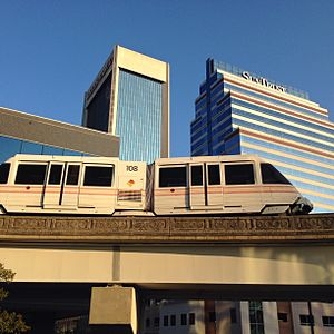 Jacksonville Skyway - Image: Skywaytrain
