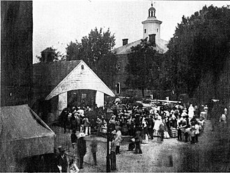 Easton, Maryland - Market House in the town square of Easton during the mid-nineteenth century.