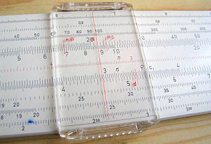 Slide rule - Cursor on a slide rule