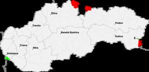A Párizsi békeszerződésben érintett területek