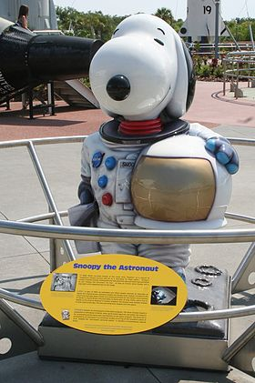 Statue de Snoopy au Centre spatial Kennedy