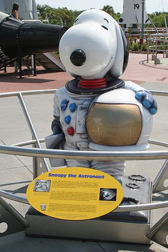 Snoopy - Statue at Kennedy Space Center. Now located in the Apollo/Saturn V building.