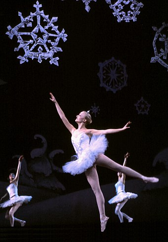 The Snowdance scene from The Nutcracker ballet, composed by Pyotr Ilyich Tchaikovsky Snowdance.jpg