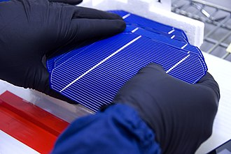 Wafer (electronics) - Completed solar wafer