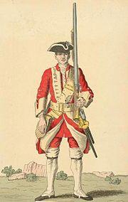 Soldier of 14th regiment 1742