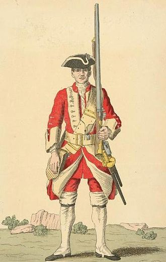 West Yorkshire Regiment - Soldier of 14th regiment, 1742