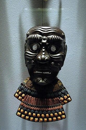 Men-yoroi - Image: Somen, Japanese (samurai) full facial armour 1