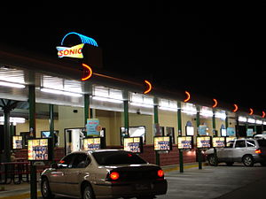 Sonic Drive-In - A Sonic Drive-in at night in 2007