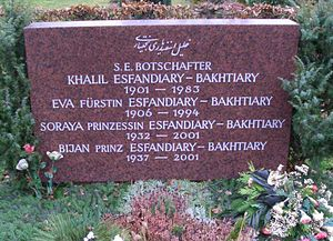 Westfriedhof (Munich) - Grave of Princess Soraya and the Esfandiary family