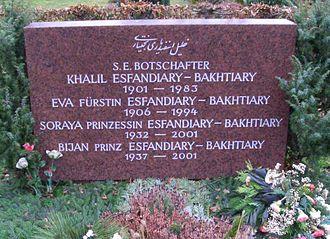 Westfriedhof (Munich) - Grave of Princess Soraya and the Esfandiary family