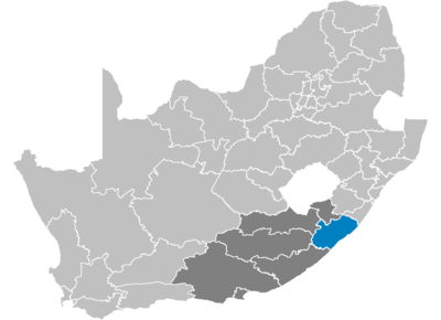 South Africa Districts showing OR Tambo.png