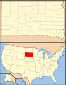Lane is located in South Dakota