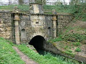 Sapperton Canal Tunnel - The Coates Portal at the south-eastern end of the Sapperton Canal Tunnel