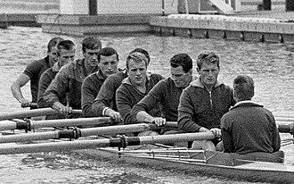 Zigmas Jukna - Jukna (4th from right) at the 1964 European Championships