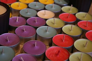 English: Handmade soy candles.
