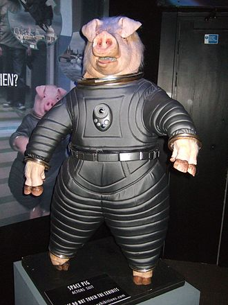 Aliens of London - The pig used in the episode, as shown at the Doctor Who Experience.