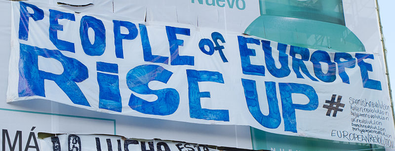 Spanish protests May 2011 - Puerta del Sol, Madrid - People of Europe, rise up!
