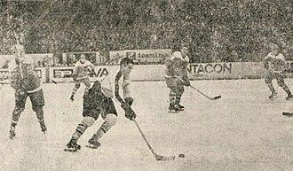 1969 World Ice Hockey Championships - Match between Austria and Yugoslavia. Yugoslavia won 2–1.