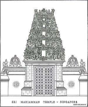 SriMariammanTemple-Singapore-drawing-SimonFieldhouse-20070523
