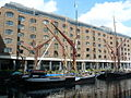 St.Katharine Docks - Thames Barges - geograph.org.uk - 1283577.jpg