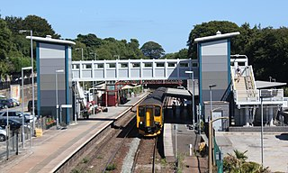 St Austell railway station Railway station in Cornwall, England