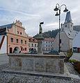 St Florian Fountain in Rožmberk (9512).jpg