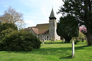 Grade I listed buildings in Surrey - Image: St Mary's, Stoke d'Abernon geograph.org.uk 778479
